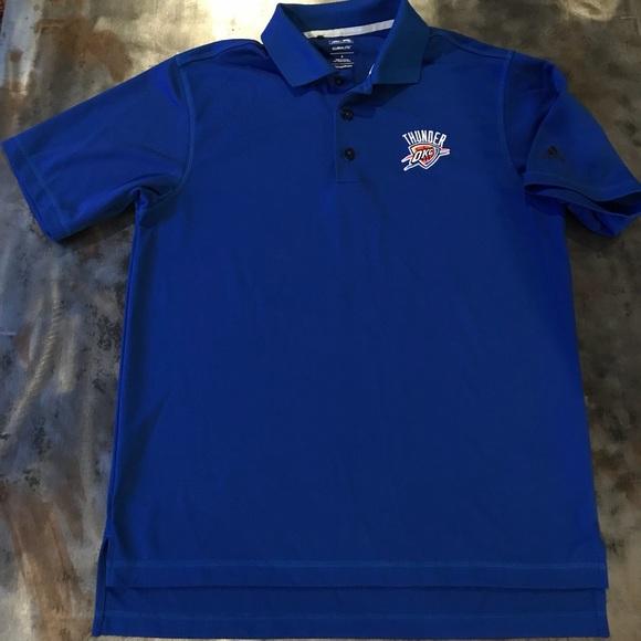 Adidas shirts hombre  Golf Polo pequeño poshmark Oklahoma Thunder
